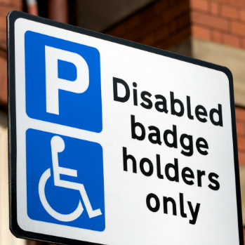 Blue badge discrimination