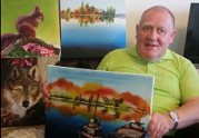 Art helps man with learning disabilities to express himself