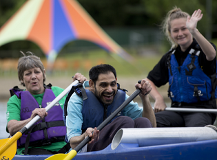 Inclusive canoeing course gets athletes with learning disabilities on the water
